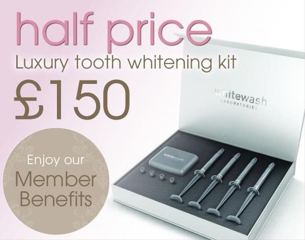 half price tooth whitening kit for our members